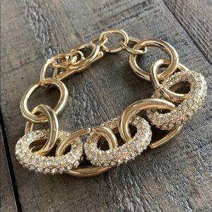 Chain gold diamond bracelet ✨